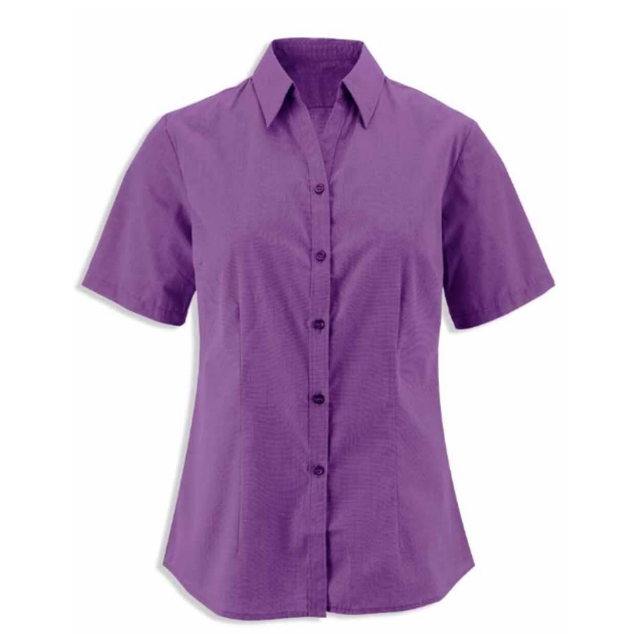 Γυναικείο υφασμάτινο πουκάμισο με κοντό μανίκι