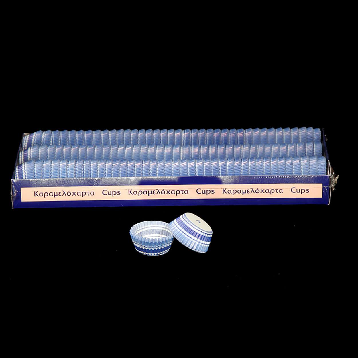 ΣΤΡΟΓΓΥΛΟ ΚΑΡΑΜΕΛΟΧΑΡΤΟ Φ30xΦ65×17,5mm ΛΕΥΚΟ-ΜΠΛΕ