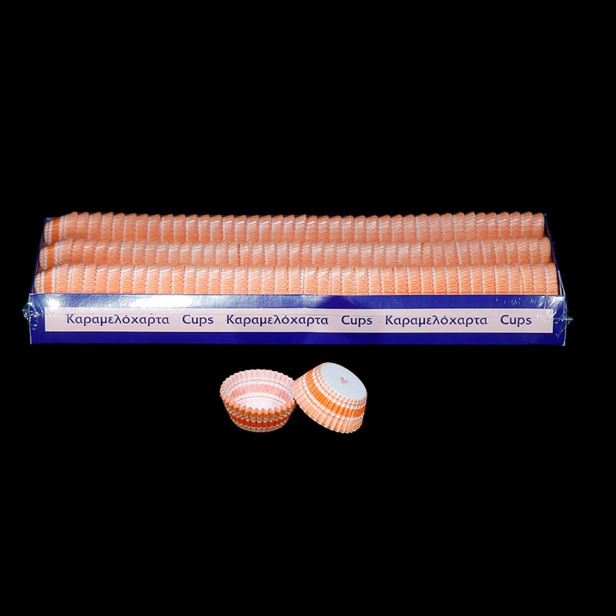 ΣΤΡΟΓΓΥΛΟ ΚΑΡΑΜΕΛΟΧΑΡΤΟ Φ30xΦ65×17,5mm ΛΕΥΚΟ-ΠΟΡΤΟΚΑΛΙ